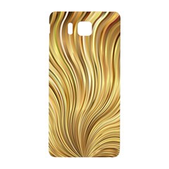 Gold Stripes Festive Flowing Flame  Samsung Galaxy Alpha Hardshell Back Case