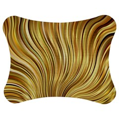 Gold Stripes Festive Flowing Flame  Jigsaw Puzzle Photo Stand (Bow)