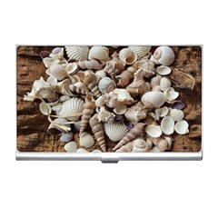 Tropical Sea Shells Collection, Copper Background Business Card Holders