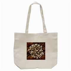 Tropical Sea Shells Collection, Copper Background Tote Bag (cream)