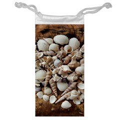 Tropical Sea Shells Collection, Copper Background Jewelry Bags