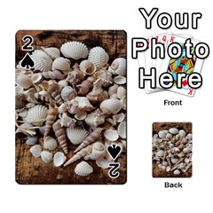 Tropical Sea Shells Collection, Copper Background Playing Cards 54 Designs