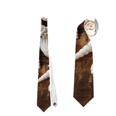 Tropical Sea Shells Collection, Copper Background Neckties (one Side)