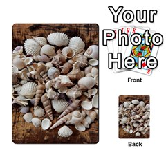 Tropical Sea Shells Collection, Copper Background Multi Purpose Cards (rectangle)