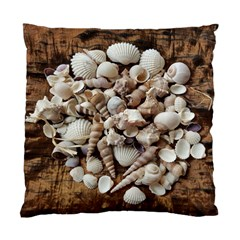 Tropical Sea Shells Collection, Copper Background Standard Cushion Case (Two Sides)