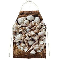 Tropical Sea Shells Collection, Copper Background Full Print Aprons