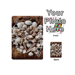 Tropical Sea Shells Collection, Copper Background Playing Cards 54 (Mini)