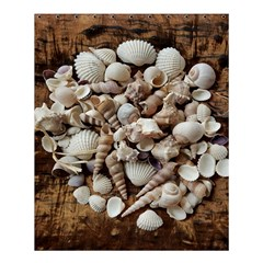 Tropical Sea Shells Collection, Copper Background Shower Curtain 60  x 72  (Medium)