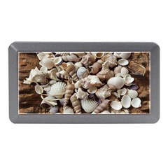 Tropical Sea Shells Collection, Copper Background Memory Card Reader (Mini)