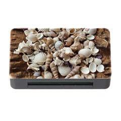 Tropical Sea Shells Collection, Copper Background Memory Card Reader with CF
