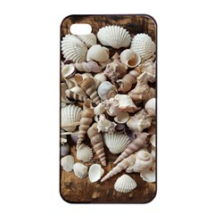 Tropical Sea Shells Collection, Copper Background Apple iPhone 4/4s Seamless Case (Black)
