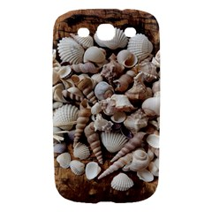 Tropical Sea Shells Collection, Copper Background Samsung Galaxy S III Hardshell Case