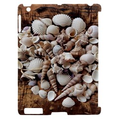 Tropical Sea Shells Collection, Copper Background Apple iPad 2 Hardshell Case (Compatible with Smart Cover)