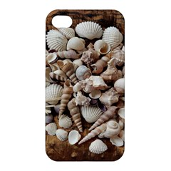 Tropical Sea Shells Collection, Copper Background Apple iPhone 4/4S Premium Hardshell Case