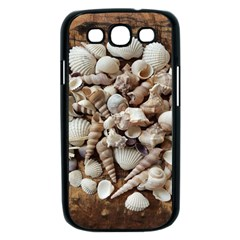 Tropical Sea Shells Collection, Copper Background Samsung Galaxy S III Case (Black)