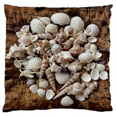 Tropical Sea Shells Collection, Copper Background Large Cushion Case (One Side)