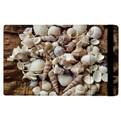 Tropical Sea Shells Collection, Copper Background Apple iPad 3/4 Flip Case