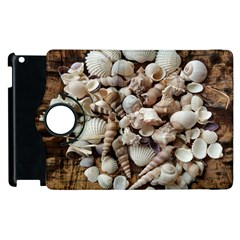 Tropical Sea Shells Collection, Copper Background Apple iPad 3/4 Flip 360 Case
