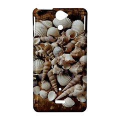 Tropical Sea Shells Collection, Copper Background Sony Xperia V