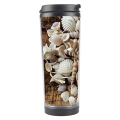 Tropical Sea Shells Collection, Copper Background Travel Tumbler