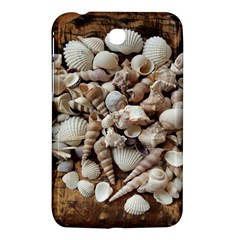 Tropical Sea Shells Collection, Copper Background Samsung Galaxy Tab 3 (7 ) P3200 Hardshell Case