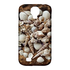 Tropical Sea Shells Collection, Copper Background Samsung Galaxy S4 Classic Hardshell Case (PC+Silicone)