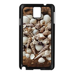 Tropical Sea Shells Collection, Copper Background Samsung Galaxy Note 3 N9005 Case (Black)