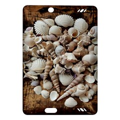 Tropical Sea Shells Collection, Copper Background Amazon Kindle Fire HD (2013) Hardshell Case