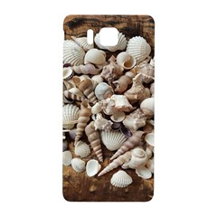Tropical Sea Shells Collection, Copper Background Samsung Galaxy Alpha Hardshell Back Case