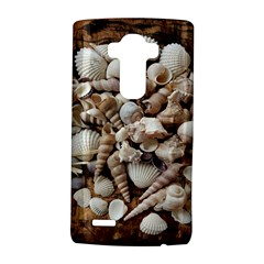 Tropical Sea Shells Collection, Copper Background LG G4 Hardshell Case