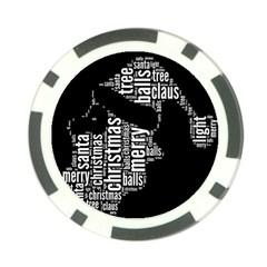 Funny Santa Black And White Typography Poker Chip Card Guards