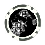 Funny Santa Black And White Typography Poker Chip Card Guards Front