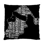 Funny Santa Black And White Typography Standard Cushion Case (Two Sides) Back