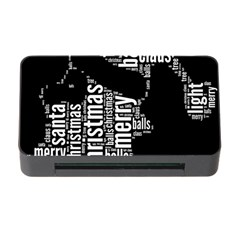 Funny Santa Black And White Typography Memory Card Reader With Cf