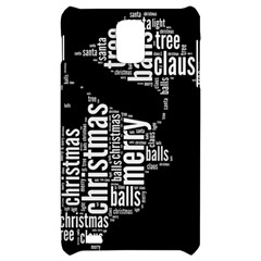 Funny Santa Black And White Typography Samsung Infuse 4G Hardshell Case