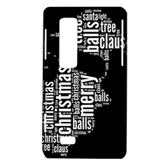 Funny Santa Black And White Typography LG Optimus Thrill 4G P925