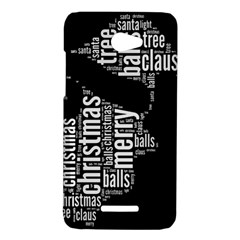Funny Santa Black And White Typography HTC Butterfly X920E Hardshell Case
