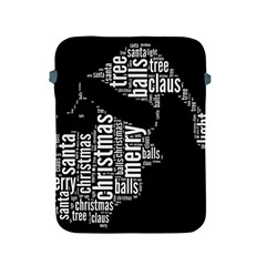 Funny Santa Black And White Typography Apple iPad 2/3/4 Protective Soft Cases