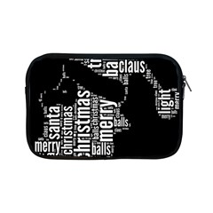 Funny Santa Black And White Typography Apple iPad Mini Zipper Cases