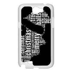 Funny Santa Black And White Typography Samsung Galaxy Note 2 Case (White)