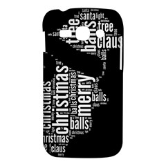 Funny Santa Black And White Typography Samsung Galaxy Ace 3 S7272 Hardshell Case