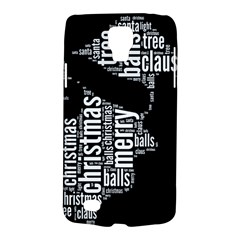 Funny Santa Black And White Typography Galaxy S4 Active
