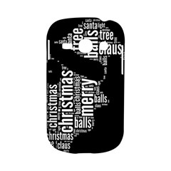 Funny Santa Black And White Typography Samsung Galaxy S6810 Hardshell Case