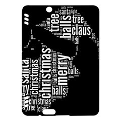 Funny Santa Black And White Typography Kindle Fire HDX Hardshell Case