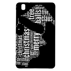 Funny Santa Black And White Typography Samsung Galaxy Tab Pro 8.4 Hardshell Case