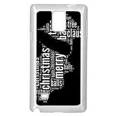 Funny Santa Black And White Typography Samsung Galaxy Note 4 Case (White)
