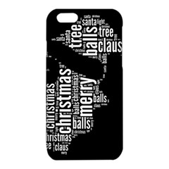 Funny Santa Black And White Typography iPhone 6/6S TPU Case