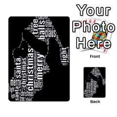 Funny Merry Christmas Santa, Typography, Black and White Multi-purpose Cards (Rectangle)