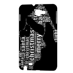 Funny Merry Christmas Santa, Typography, Black and White Samsung Galaxy Note 1 Hardshell Case