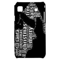 Funny Merry Christmas Santa, Typography, Black and White Samsung Galaxy S i9000 Hardshell Case